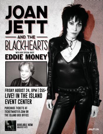 Joan Jett & The Blackhearts WSG Eddie Money